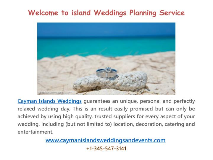 Welcome to island Weddings Planning Service
