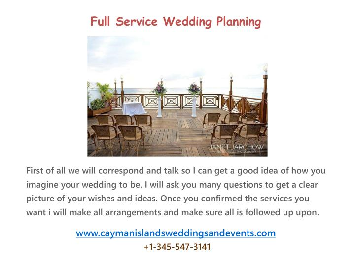 Full Service Wedding Planning