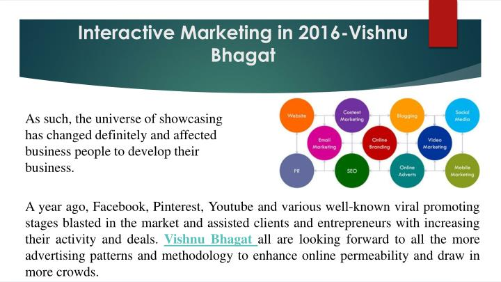 Interactive Marketing in 2016-Vishnu Bhagat
