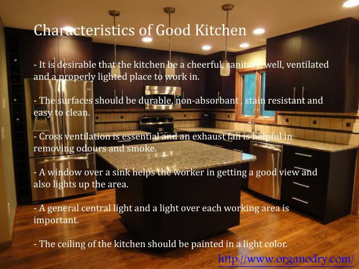 Characteristics of Good Kitchen