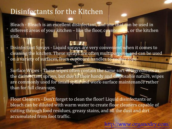 Disinfectants for the Kitchen