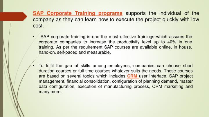 SAP Corporate Trainingprograms
