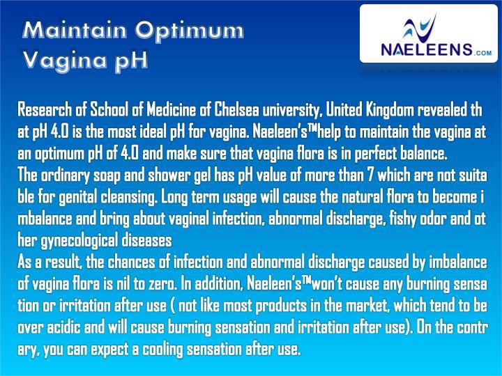 Maintain Optimum Vagina pH