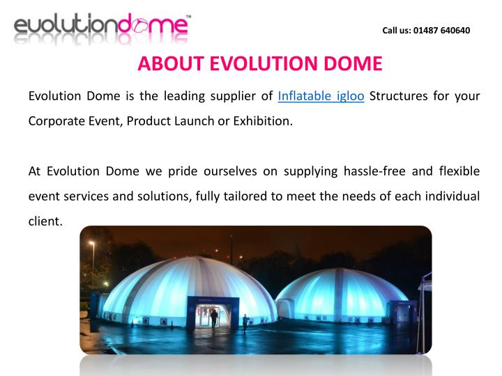 ABOUT EVOLUTION DOME