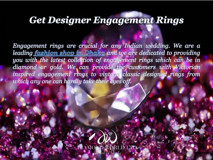 Get Designer Engagement Rings