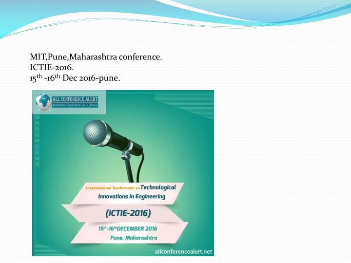 MIT,Pune,Maharashtra conference.