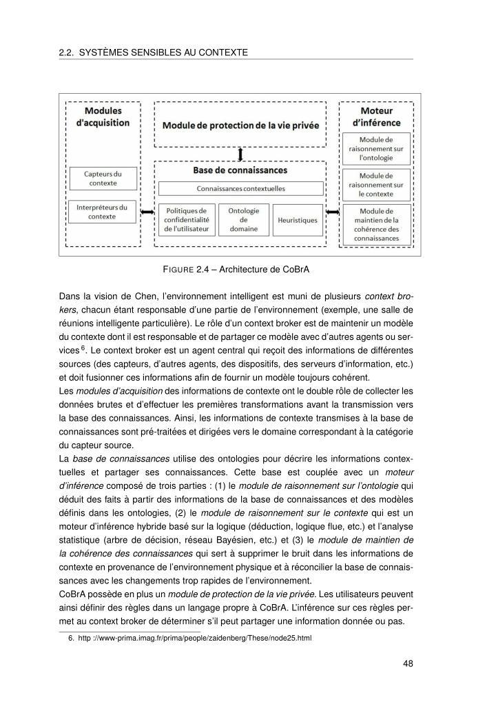 2.2. SYST`EMES SENSIBLES AU CONTEXTE