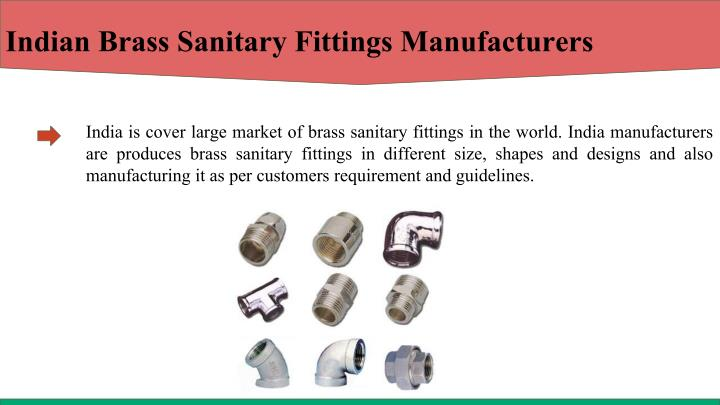 Indian Brass Sanitary Fittings Manufacturers