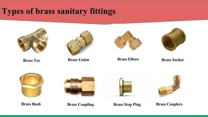 Types of brass sanitary fittings