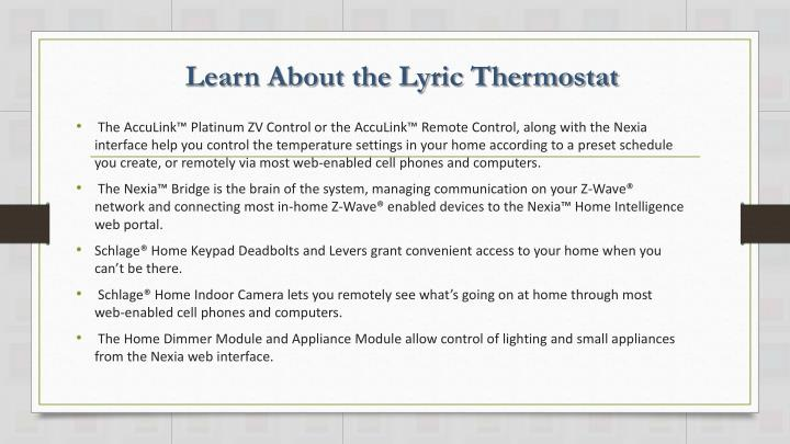 Learn About the Lyric Thermostat