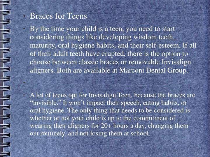 Braces for