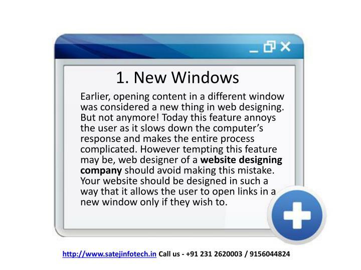 1. New Windows