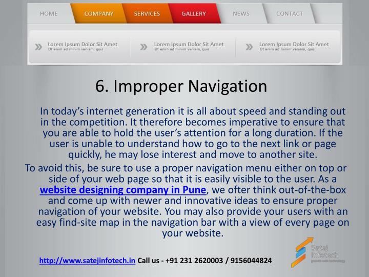 6. Improper Navigation
