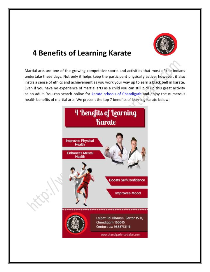 4 Benefits of Learning Karate