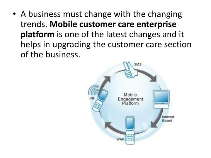A business must change with the changing trends.