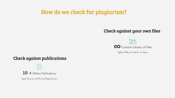 How do we check for plagiarism?