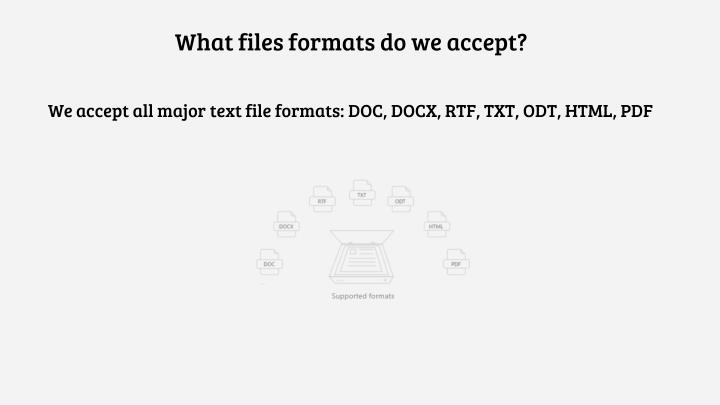 What files formats do we accept?