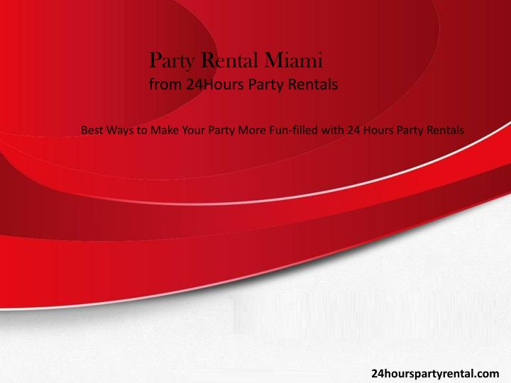 Party Rental Miami