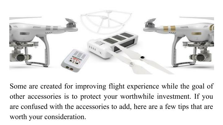 Some are created for improving flight experience while the goal of