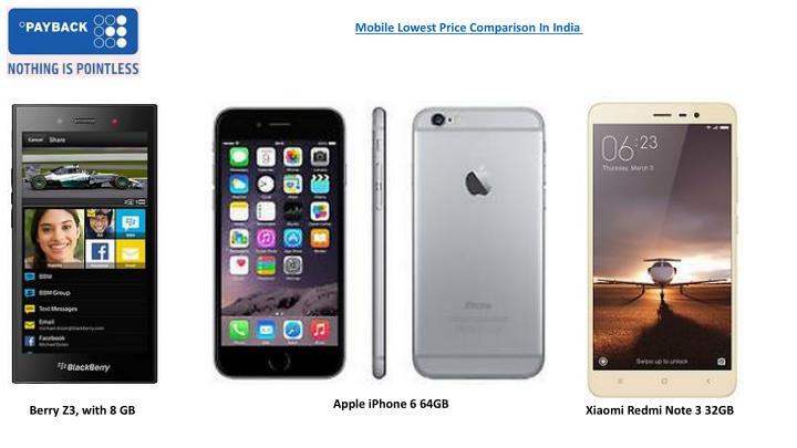 Mobile Lowest Price Comparison In India