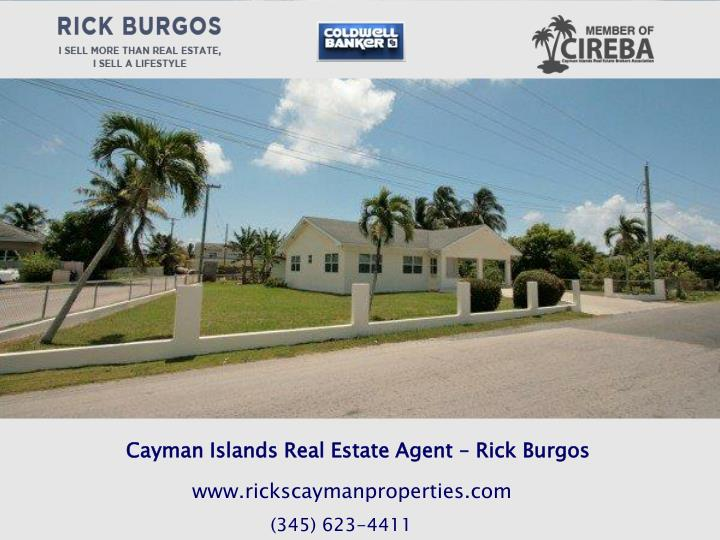 Cayman Islands Real Estate Agent – Rick Burgos