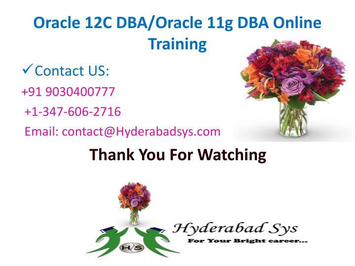 Oracle 12C DBA/Oracle 11g DBA Online Training