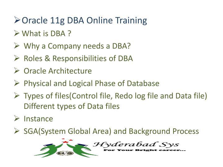 Oracle 11g DBA Online Training
