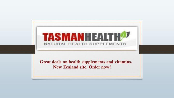 Great deals on health supplements and vitamins.