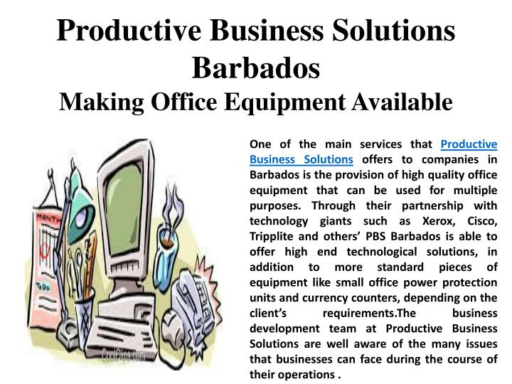 Productive Business Solutions Barbados