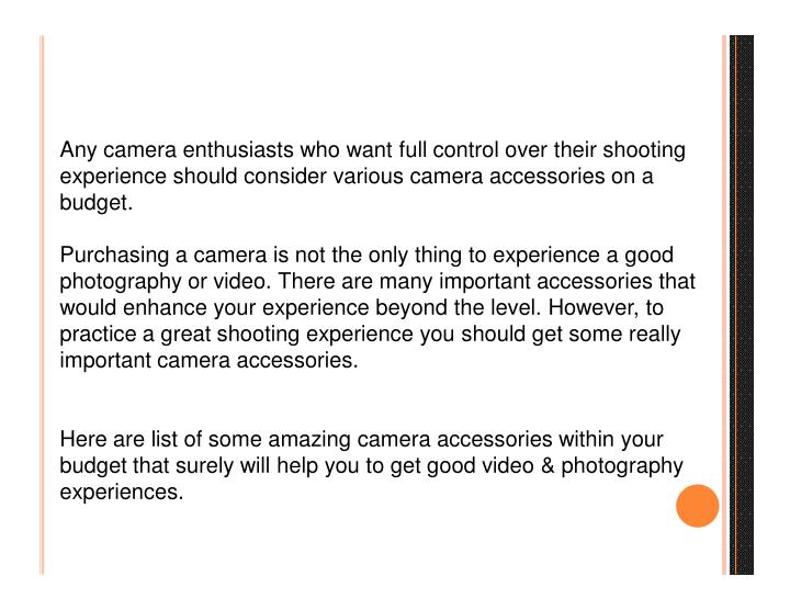 Any camera enthusiasts who want full control over their shooting