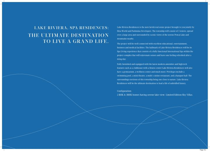 LAKE RIVIERA, SPA RESIDENCES: