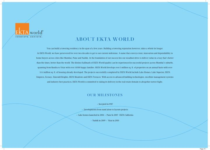 ABOUT EKTA WORLD