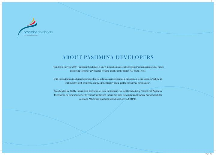 ABOUT PASHMINA DEVELOPERS