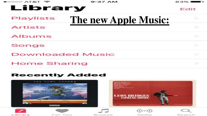 The new Apple Music: