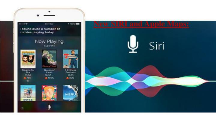New SIRI and Apple Maps: