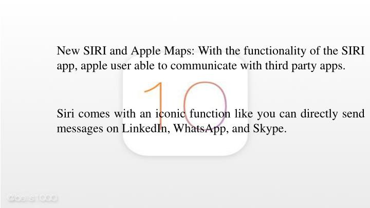 New SIRI and Apple Maps: With the functionality of the SIRI app, apple user able to communicate with third party apps.