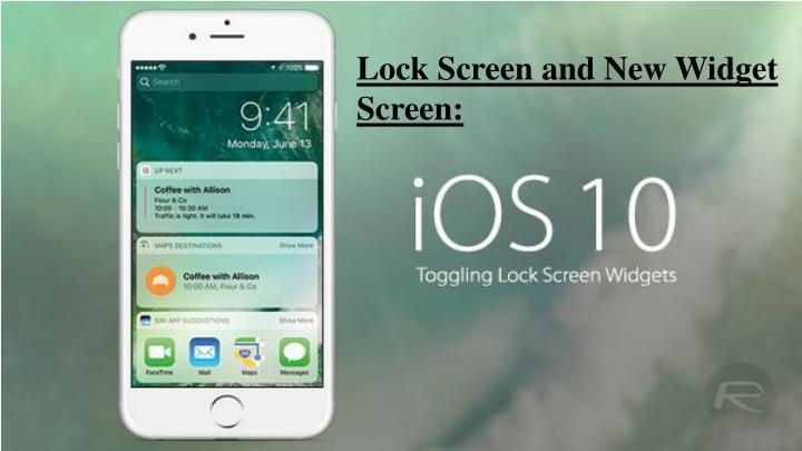 Lock Screen and New Widget Screen: