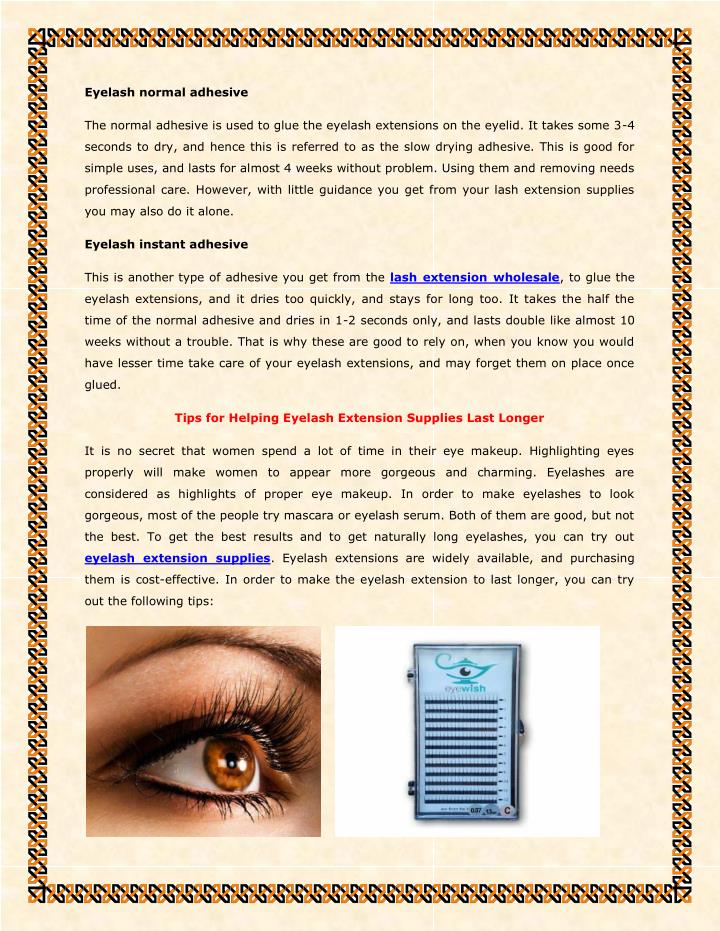 Eyelash normal adhesive