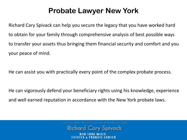 Probate Lawyer New York