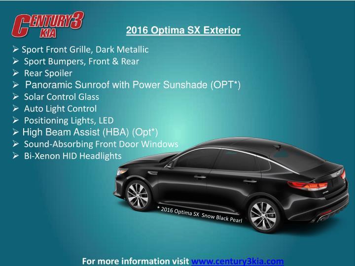 2016 Optima SX Exterior