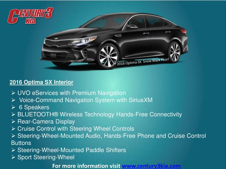 * 2016 Optima SX  Snow Black Pearl