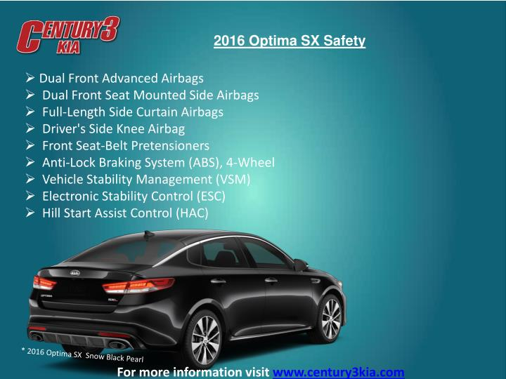 2016 Optima SX Safety