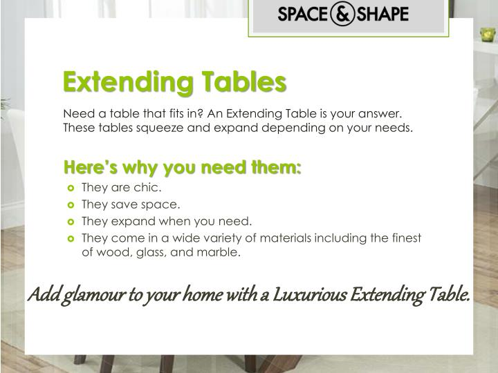 Extending tables