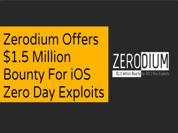 Zerodium offers 1 5 million bounty for ios zero day exploits cr risk advisory
