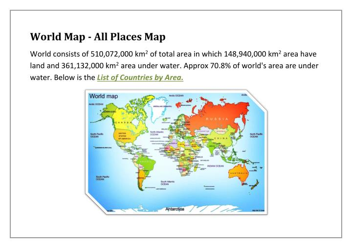 World Map - All Places Map