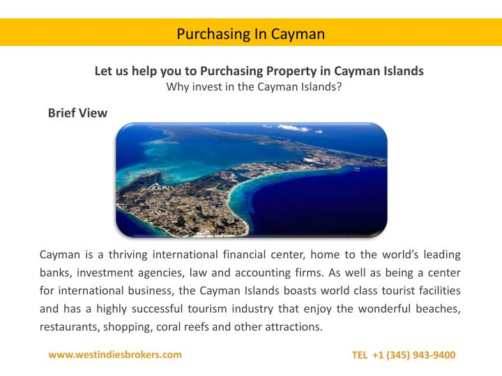 Purchasing In Cayman
