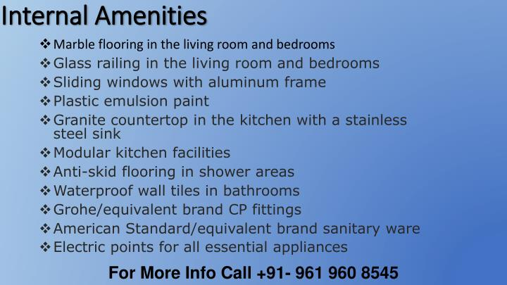 Internal Amenities