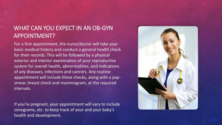 What can you expect in an OB-GYN appointment?