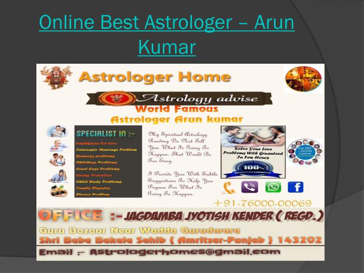 Online Best Astrologer – Arun Kumar