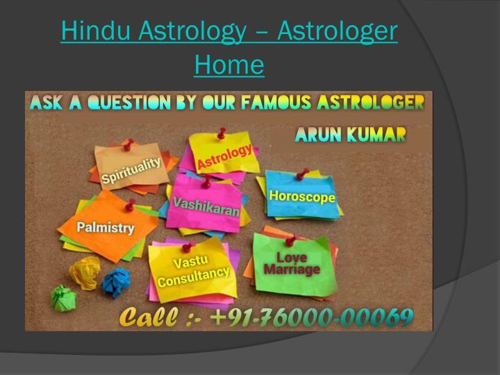 Hindu Astrology – Astrologer Home